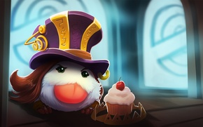 Wallpaper Poro, lollatino.net, lol, Caitlin, League of Legends