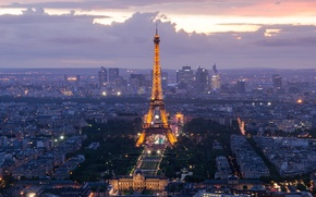 Picture France, Paris, tower, Eiffel, Defense