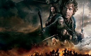 Picture fire, dragon, smoke, sword, fantasy, elves, dwarves, battle, Evangeline Lilly, the hobbit, orcs, Orlando Bloom, …