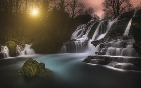 Picture landscape, nature, stones, waterfall, Wallpaper from lolita777
