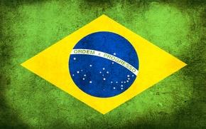 Wallpaper flag, dirt, Brazil