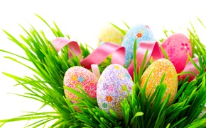 Wallpaper decor, grass, colorful, Spring, Easter, eggs, Easter, Eggs, colorful, tape, Holidays