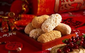 Wallpaper cookies, Chinese, dessert
