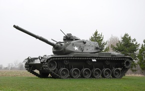 Picture tank, USA, armor, average, M60, 1960-ies