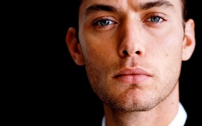 Picture eyes, face, male, actor, Jude Law