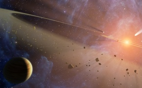 Picture planet, asteroids, Space