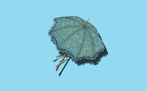 Picture retro, umbrella, minimalism, umbrella, vintage