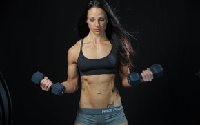 Picture tattoo, pose, fitness, dumbbells