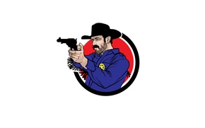 Picture weapons, icon, hat, Ranger
