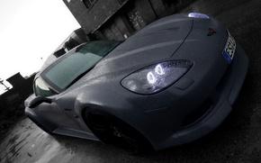 Picture rain, black and white, Auto, LOM Performance Corvette C6