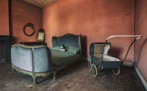 Picture room, bed, stroller