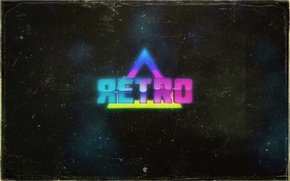 Picture style, background, retro, triangle, the word