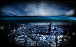 Picture water, blue, the city, the ocean, Astana, Kazakhstan