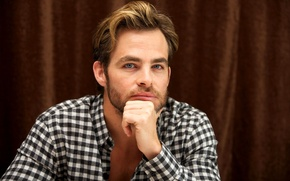Picture look, actor, male, shirt, Chris Pine, Chris Pine