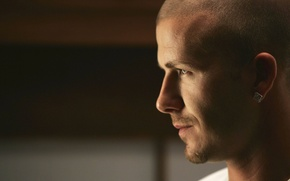 Picture face, profile, male, player, David Beckham
