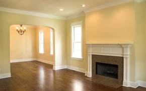 Picture design, style, room, interior, fireplace, apartment, empty