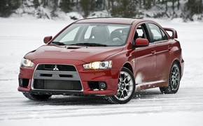 Wallpaper Red, Japan, Snow, Wallpaper, Sedan, Mitsubishi, Lancer, Japan, Car, Evolution, Evo, Wallpapers, Lancer, Mitsubishi, US-Spec, ...