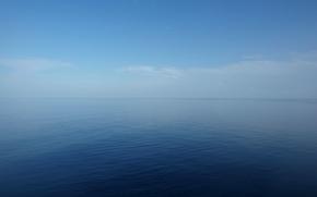 Picture sea, the sky, clouds, fog, horizon
