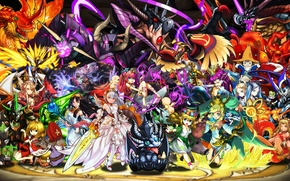 Picture the game, anime, characters