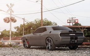 Picture Auto, Tuning, Machine, Dodge, Challenger, Rails, Traffic light