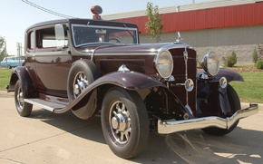 Picture auto, retro, USA, America, car, classic, 1932, Model 91, President St. Regis Brougham, Studebaker