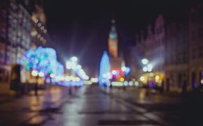 Picture Christmas, bokeh, Poland, Gdansk