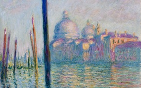 Wallpaper Claude Monet, picture, the urban landscape, The Grand Canal in Venice