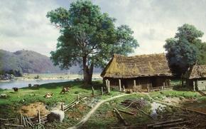 Picture picture, Klodt, estate, Peasant