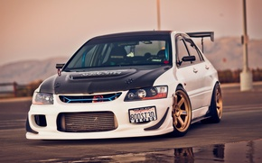 Picture Tuning, Car, Evolution, Car, Wallpapers, Tuning, Mitsubishi Lancer, Wallpaper, The front, Sportcar, Mitsubishi Lancer, Evolution …