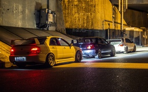 Wallpaper red, light, STI, WRX, lights, blue, city, cars, White, light, night, Hella flush, Subaru, JDM