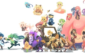 Picture girls, anime, art, guys, vocaloid, hatsune miku, megurine luka, kagamine rin, kagamine len, bruno, oliver, ...
