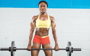 Picture muscle, power, female, weightlifting, bodybuilder, weight lifting