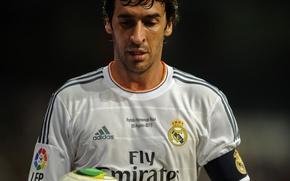 Picture football, Spain, real madrid, real Madrid, football, legend, Spain, Santiago Bernabeu, Raul, Raul, Madrid, White …