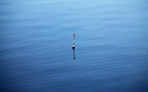 Picture water, fishing, float, blue.