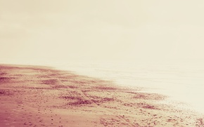 Wallpaper sand, sea, beach, water, the sun, light, landscape, traces, nature, beach, sea, landscape, nature, water, ...