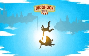 Wallpaper 8 bit, 8 bit, falling, Bioshock Infinite, drop