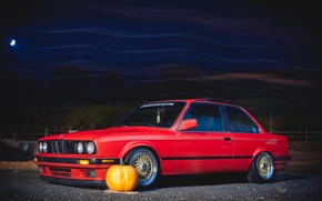 Picture bmw, red, stance