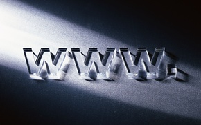 Picture glass, letters, Internet, www