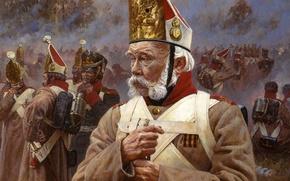 Picture war, history, uniform, Napoleon, a Veteran, old soldier