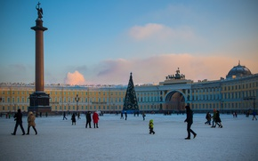 Wallpaper Palace square, Saint Petersburg, Headquarters, Peter