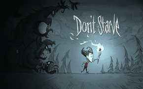 Picture the game, monsters, shadows, torch, indie, Wilson, scientist, darkness, game. indie, Don't Starve, Wilson P. …
