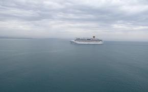 Picture sea, water, ships, Liner, Costa Pacifica, grandeur of the seas