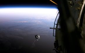 Wallpaper Earth, Clouds, Satellite, Horizon