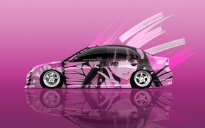 Picture Girl, Auto, Design, Pink, White, Style, Girl, Wallpaper, Pink, Honda, Honda, Creative, Art, Art, Anime, …