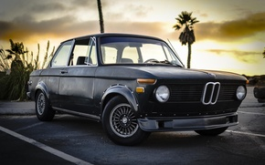 Picture sunset, bmw, BMW, classic, vintage, 1975, 2002, New Class, bmw2002