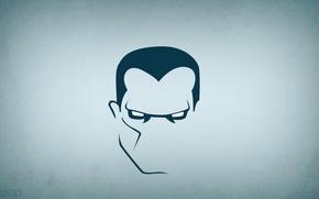 Picture minimalism, super hero, colossus, blo0p