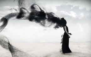 Wallpaper girl, magic, vortex