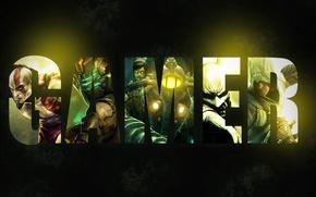 Picture the inscription, wallpaper, BioShock 2, Dead Space, god of war, Kratos, gamer, Batman: Arkham City, …