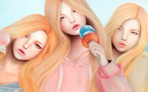 Picture girls, ice cream, ice cream