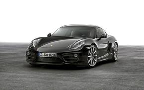 Picture Porsche, black, Cayman, Porsche, Black, 2015, Caiman